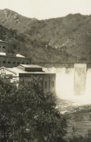 A hydroelectric station in the scrapbook.